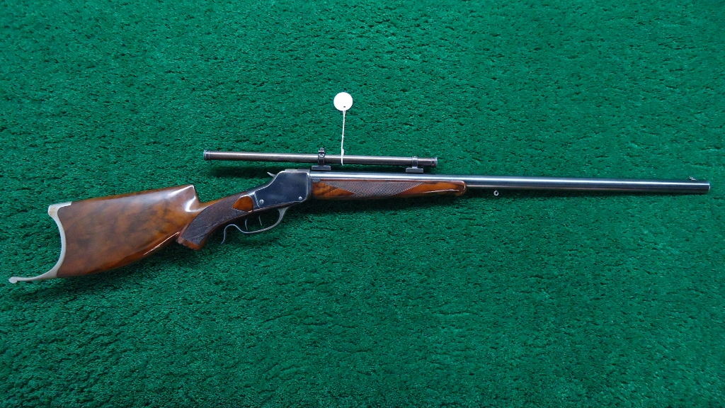 W277a Winchester 1885 Hi Wall Schuetzen Rifle In 22 Short